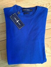 Ralph Lauren Polo Golf Blue Cashmere Pullover Sweater M Medium GIFT NWT $397