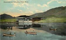 BUTTE MT Clearmont on the Lakes Canoes Canoeing Silver Bow County Postcard 1910s