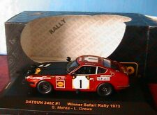 DATSUN 240Z #1 WINNER SAFARI RALLY 1973 MEHTA DREWS IXO RAC087 1/43 EAST AFRICAN
