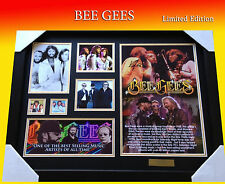 BEE GEES MUSIC MEMORABILIA SIGNED FRAME LIMITED EDITION TO 499 w/ COA