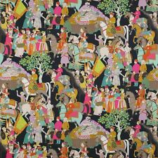 "MANUEL CANOVAS FROM FRANCE ""DARA"" TOILE FABRIC 10 YARDS BLACK MULTI"