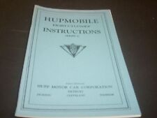HUPMOBILE 1920s Series C 8 Cyl  Instruction Book
