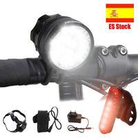 60000LM 16x XML T6 MTB  LED Frontal Bicicleta Cabeza Luz LÁMPARA Linterna Torch