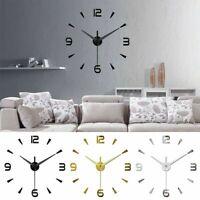 Wall Clock Big Watch Decal 3D Stickers Roman Numerals DIY Wall Modern Home 2020