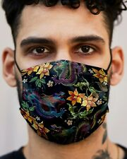 Double layered Cotton Face Mask with High Quality Print, Dragons and Florals