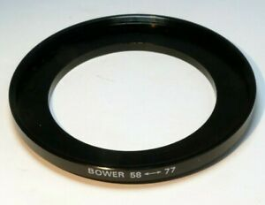 58mm to 77mm  lens ring  step up threaded male to female wide angle