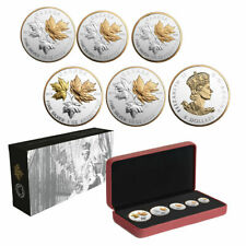 2016 Canadian Silver Maple Leaf Fractional 5 Coin Set A Historic Reign 7500 Mint