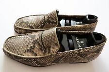 $2500 ARTIOLI Natural Python Leather Shoes Loafers Size 6.5 US 39.5 Euro 5.5 UK