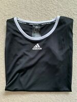 ADIDAS Women's Climacool® Tennis T Shirt Training Gym Top Black SIZE UK 16-18 L