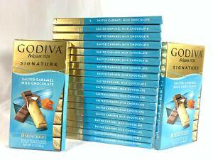 Godiva Salted Caramel Milk Chocolate Lot of 20 Individually Wrapped 8 Mini Bars