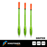 "WAGGLER FISHING FLOATS The Kingfisher ""Drifter"" Pack of 3 - Premium Quality"