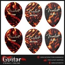 "6 x Mixed Fender 354 Medium Teardrop Shape Classic Celluloid Picks ""New"""