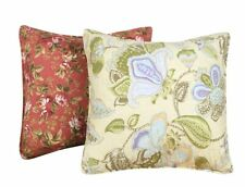 BLOOMING PRAIRIE ACCENT PILLOW SET : COUNTRY COTTAGE YELLOW TERRA FLORAL PAISLEY