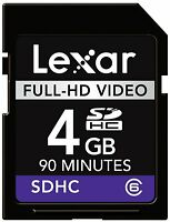 Lexar SD SDHC 4G 4GB Class 6 C6 Full-HD Video Memory Card For Video Camera DV