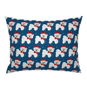 Christmas Bichon Frise Christmas Animals Dogs Animals Pillow Sham by Roostery