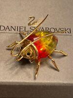 Swarovski Swan Signed Beetle Bug Figurine