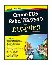 Canon EOS Rebel T6i / 750D For Dummies (For Dummies (Computer/T... Free Shipping