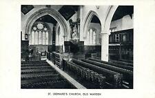 VINTAGE POSTCARD - St. LEONARD'S CHURCH, OLD WARDEN - 12th CENTURY NORMAN