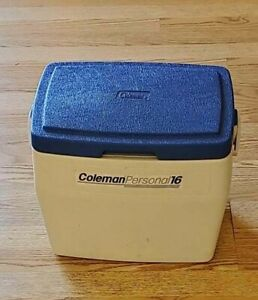 Vintage blue white Coleman Personal 16 Cooler 5274 personal16 FAST Shipping!!!