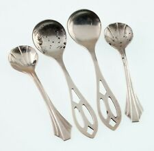 Lot of 4 Sterling Silver Salt Spoons! Adorable!