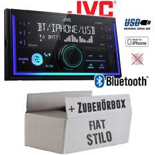 JVC Autoradio für Fiat Stilo Radio Bluetooth MP3 USB Einbauzubehör Einbauset