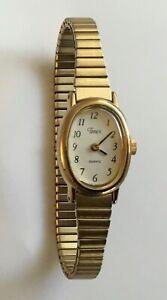 Ladies Timex Gold Tone Watch Expandable Bracelet