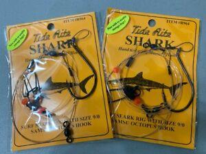 2 MUSTAD SHARK TIDE RITE SIZE 9/0 SURF SHARK SAMSU OCTOPUS RIG R964 FISH HOOKS