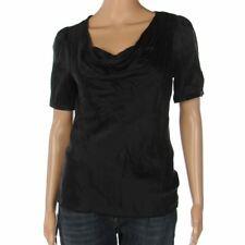 BRUUNS BAZAAR Top Black Sequin Short Sleeved Size 36 / UK 8 WP 126