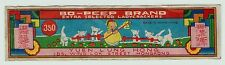 RARE - Bo-Peep Brand Yuen Lung Hong Kong - Firecracker Label 1930s? Chinese 350