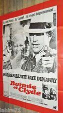 BONNIE ET CLYDE ! w beatty f dunaway  affiche cinema  1967