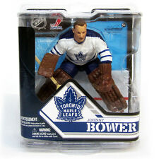 McFarlane NHL Serie 32 Johnny Bower Toronto Maple Leafs White Jersey