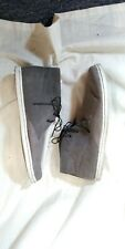 Ben Sherman Preston BNM00137 Gray Canvas Sneaker Shoes 16 US Mens