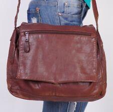 MEDIUM BROWN  Leather Crossbody Shoulder Hobo Tote Satchel Purse Bag