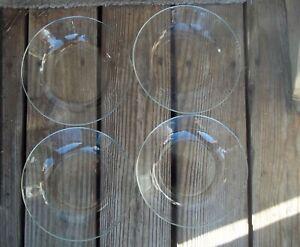 4 Arcoroc FRANCE Classique Clear Coupe Soup Bowls 8-1/8 x 1-3/4 Set of 4