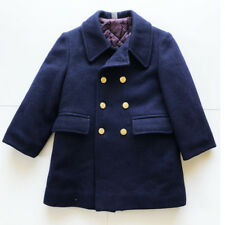 Vintage Fieldston Unisex Navy Wool Pea Coat sz 5 Made in the USA