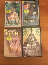 4 VHS Videos of Agatha Christie-A Murder Is Announced, Evil Under The Sun & More