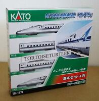KATO 10-1174 N Scale N700A Shinkansen Nozomi Basic 4 Car Set