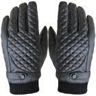 neu bequem Herren Thermische Winter Motorrad Sport Leder Touchscreen Handschuhe