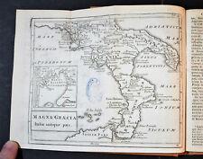 1786 Original Geographical Map MAGNA GRAECIA - Italia Antiquae Pars - CELLARIUS