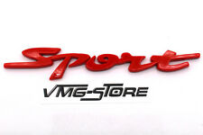 3D Sport Schriftzug Rot Emblem Badge NEU mit Kleberückseite Tuning Aufkleber