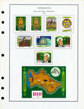 Turkmenistan Mint NH + LH 1992 to 2001 Stamp Collection