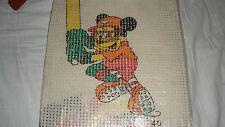 Unusual/Strange Vintage Unbranded Cross Stitch Kit-Mickey Mouse Baseball-MIOP