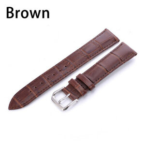 Genuine Leather Watch Band Solid Colors Pin Wrist Strap 12 12 16 18 20 22mm