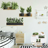 Plant Mural Wall Sticker Decal Decoration Living Room Green Leaf DIY Home Decor