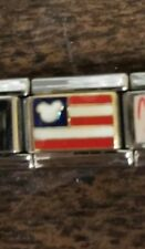 Italian Charm Disney Bracciale Liscensed Mickey USA Flag