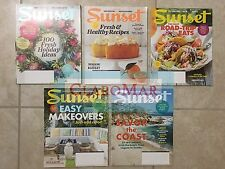 ☀️NEW LOT 5 Sunset Magazines 2014 2015 Home Eats Party Gardening Healthy Recipes