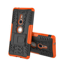 For Sony Xperia XZ2 Shockproof Hybrid Rugged Armor Hard Kickstand Case Cover