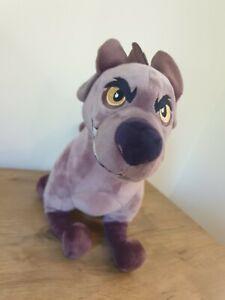 "Rare Genuine Disney Store Lion Guard King Janja Soft Toy Plush 14"" Villain Hyena"