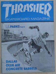 Thrasher, Skateboard Magazine, april 1981 Skate early 80's Uncirculated