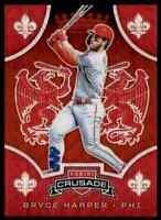 2019 Panini Crusade Bryce Harper 60/199 Philadelphia Phillies #9 Ruby Wave